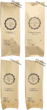 Espresso-Probierset 4x 500g ganze Bohnen