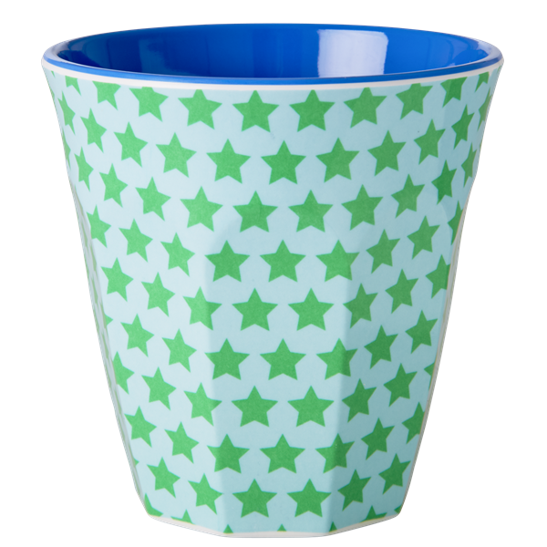 Rice Becher 0,2l / Green and Turquoise Star Print