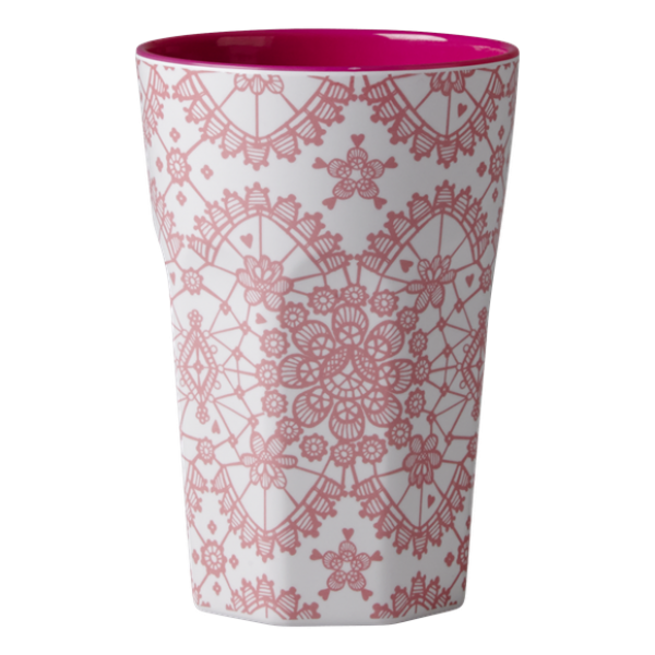 Rice Becher 0,4l / Lace Print - Pink