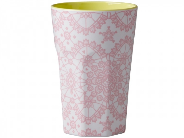 Rice Becher 0,4l / Lace Print - Yellow/Pink
