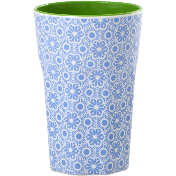Rice Becher 0,4l / Marrakesh Print - Blue and White