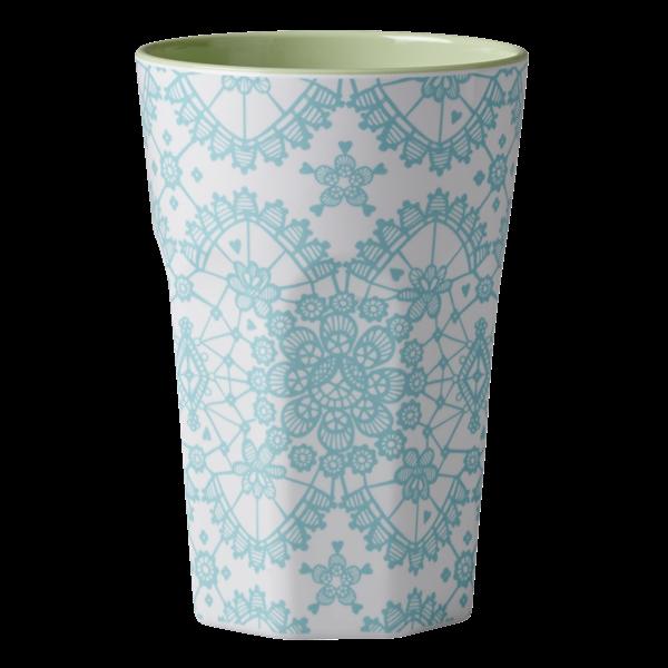 Rice Becher 0,4l / Lace Print - Blue
