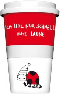 """Coffee-To-Go-Becher """"Ich hol nur schnell"""""""