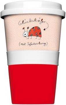 """Coffee-To-Go-Becher """"Glückskäfer mit Sofortwirkung"""""""