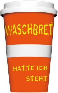 """Coffee-To-Go-Becher """"Waschbrettbauch"""""""