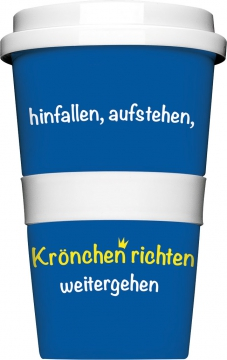 "Coffee-To-Go-Becher ""Krönchen richten"""