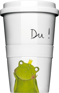 "Coffee-To-Go-Becher ""Du Frosch"""