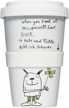 """Coffee-To-Go-Becher """"Glück in Hülle und Fülle"""""""