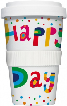 "Coffee-To-Go-Becher ""Happy Day"""