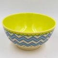 Rice Schale groß / CHEVRON gelb/blau
