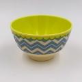 Rice Schale klein / CHEVRON gelb/blau