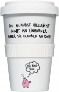 "Coffee-To-Go-Becher ""Du bist toll"""